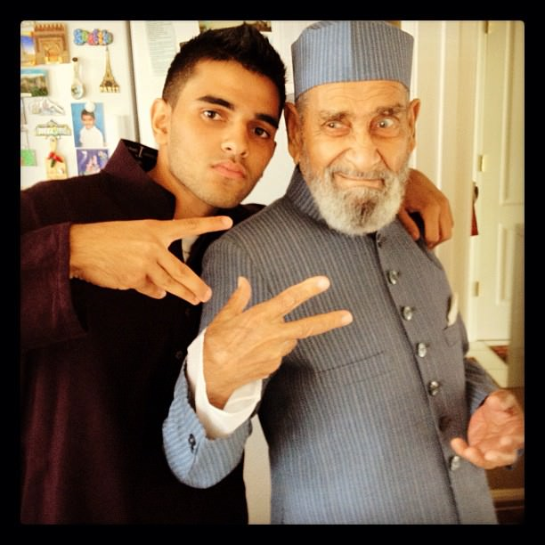 Holding it down with Gramps masha'Allah. Eid Mubarak everyone! #Eid #Swag #mmeid #family