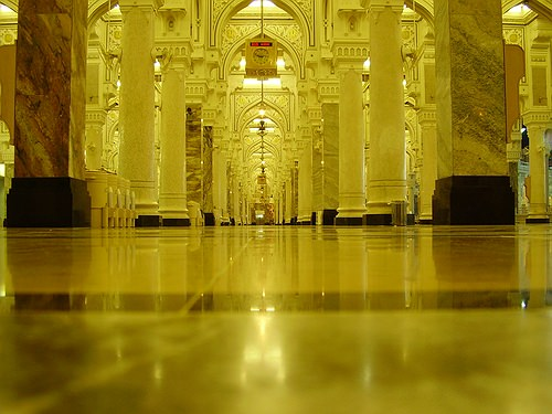 Hallway in the Haram, Makkah, by Hasan Gopalani