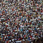Egypt-Cairo: @FatmaNassar: Muslims gather to pray at the start of the three-day feast Eid al-Fitr