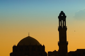 Mosque_sunset