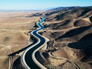 Interstate 5 and the California Aqueduct