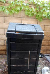 Our trusty compost bin