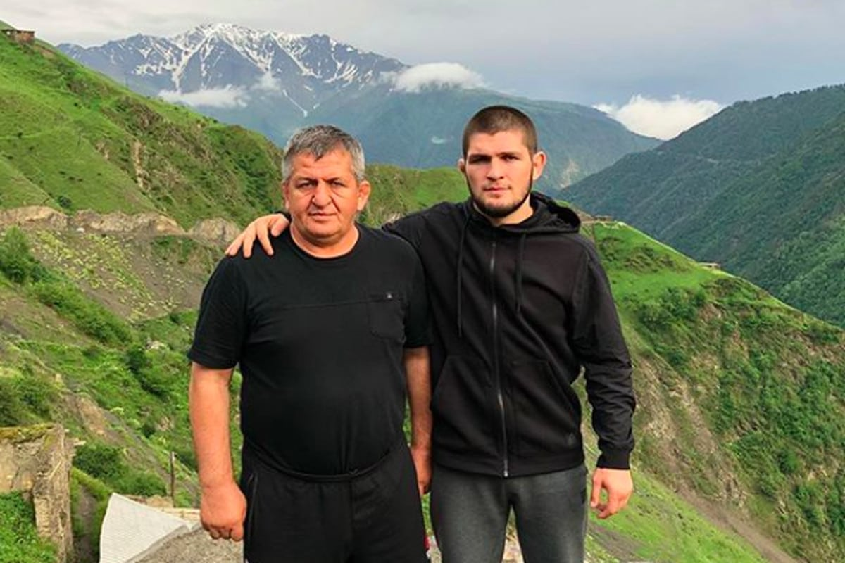 Khabib with his father
