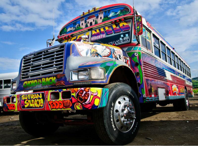Panama diablo rojo bus