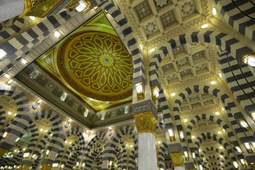 Ceiling of Masjid Nabawi