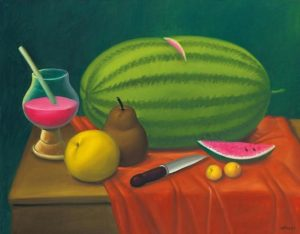 """""""Still Life With Fruits"""" by Fernando Botero"""