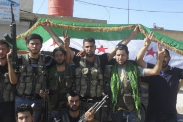 syrian-rebels-celebrating