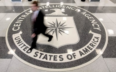 File photo of the lobby of the CIA Headquarters Building in McLean, Virginia